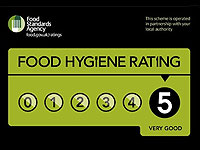 5 Star Food Hygiene Rating - 4 Star B & B accommodation in Llandudno North Wales